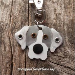Great Dane Metal Rivet Tag/Keychain